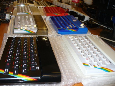 New ZX Spectrum color cases and keyboards